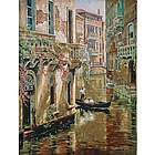 Afternoon Chat Gondola Ride Wall Tapestry