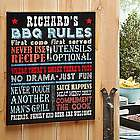 Personalized Rules for Great Grilling Canvas