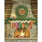 Personalized Christmas Stockings Wall Art