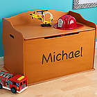 Personalized Wood Toy Box