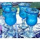 Carribbean Sea Handblown Goblets