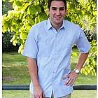 Short Sleeve Stripped Guayabera Shirt