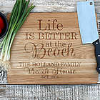 Personalized Life is Better at the Beach Engraved Cutting Board