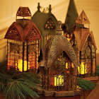 Glass and Metal Architectural Candle Lantern