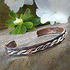 Braided Design Rustic Copper Cuff Bracelet