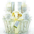 Lovely White Fresh Herb Tea Scented Spa Gift Basket