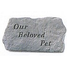 Our Beloved Pet Remembrance Garden Stone