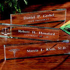 Personalized Beveled Glass Name Plate