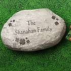 Personalized Large Irish Shamrocks Garden Stepping Stone