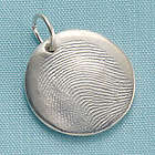 Personalized Silver Fingerprint Charm