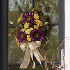 Purple Sunflower Hanging Bouquet with Lights