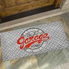Personalized His Garage Rules Oversized Doormat