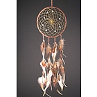 Natural DreamCatcher with Hackle and Pheasant Feathers