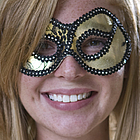 Decorated Gold Masquerade Mask