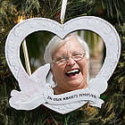 In Our Hearts Memorial Photo Ornament