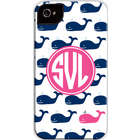 Whale Repeat Personalized Navy Cell Phone Case