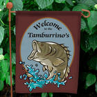 Personalized Bass Fishing Garden Flag