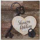 Personalized Key To My Heart Romantic Canvas Print