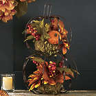 Stacked Pumpkin Floral Display