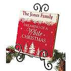 Personalized Dreaming of a White Christmas Decor Tile