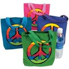 12 Peace Sign Tote Bags
