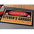 Personalized 18 x 27 Danger Doormat