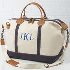 Embroidered Monogram Canvas Duffel Bag