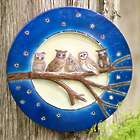 Owls on Branch Lighted Wall Art