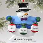 3-Snowman Family Personalized Ornament