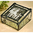 Picture Box with Ice Look Stained Glass