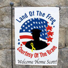 Personalized Land of the Free Because of the Brave Garden Flag