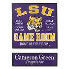 LSU Game Room Sign