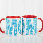 Personalized Repeating Names Red Coffee Mug for Her