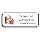 'Shop Til You Drop' Personalized Address Labels