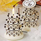 Fleur de Lis Crown Design Cake Candle Favor