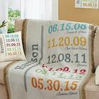 Fun Family History Personalized Throw