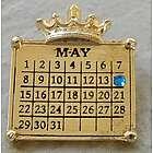 Calendar Necklace with Swarovski Crystal