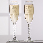 Mr. and Mrs. Collection Engraved Flute Set