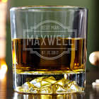 Personalized Fremont Fairbanks Whiskey Glass