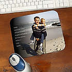 Photo Sentiments for Him Personalized Mouse Pad