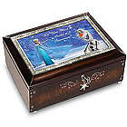 Disney Frozen Mahogany-Finished Music Box