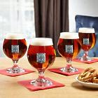 4 Personalized Regal Crested Beer Snifter Glasses