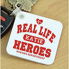 Real Life Heroes Personalized Nurse Key Chain