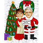Merry Christmas Couple Caricature from Photos
