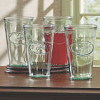 Embossed Faucet Design Highball Glasses