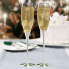 Personalized Wedding Satin-Stemmed Champagne Flutes