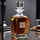 Personalized Draper Block Monogram Whiskey Decanter