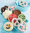 20 Piece Holiday Pretzels and Cookies Gift Box