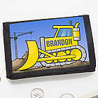 Construction Truck Personalized Wallet