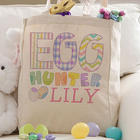 Personalized Kids Easter Tote Bag